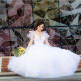 Chein Noir Dezines White tulle gown